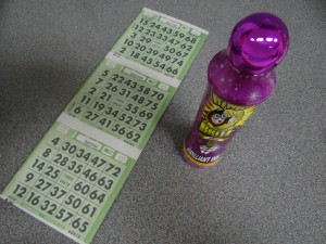 Bingo Card and Stamp